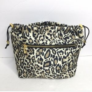 Lrg. CHICO'S Leopard Print Cosmetic Make-up Bag